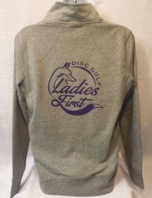 Zip Up Ladies First Jacket with non glitter logo