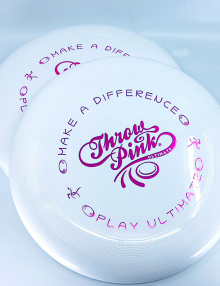 Throw Pink Ultimate Frisbee